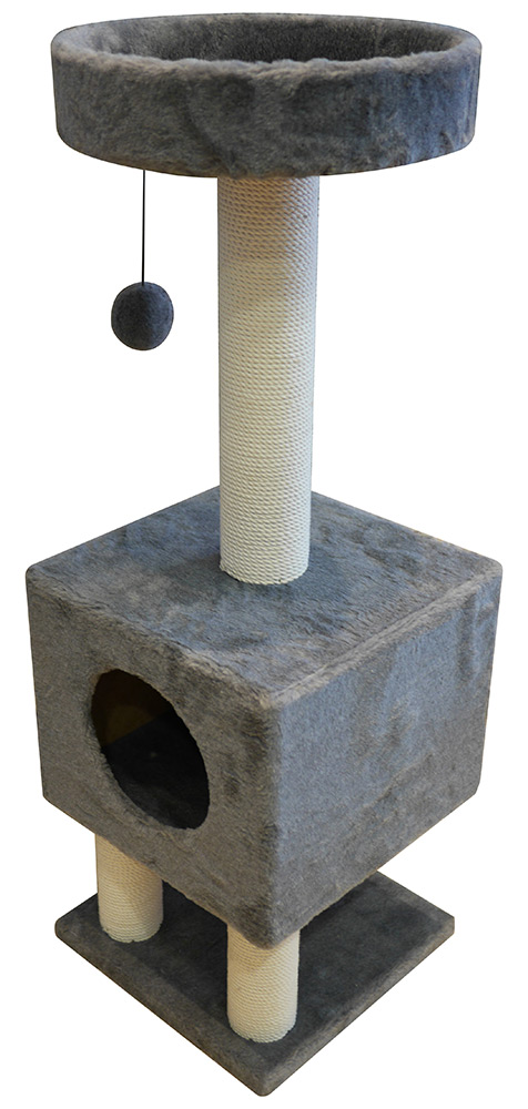 Домик на ножках Cat House с шариком на резинке (мех, хлопок), 1,05м
