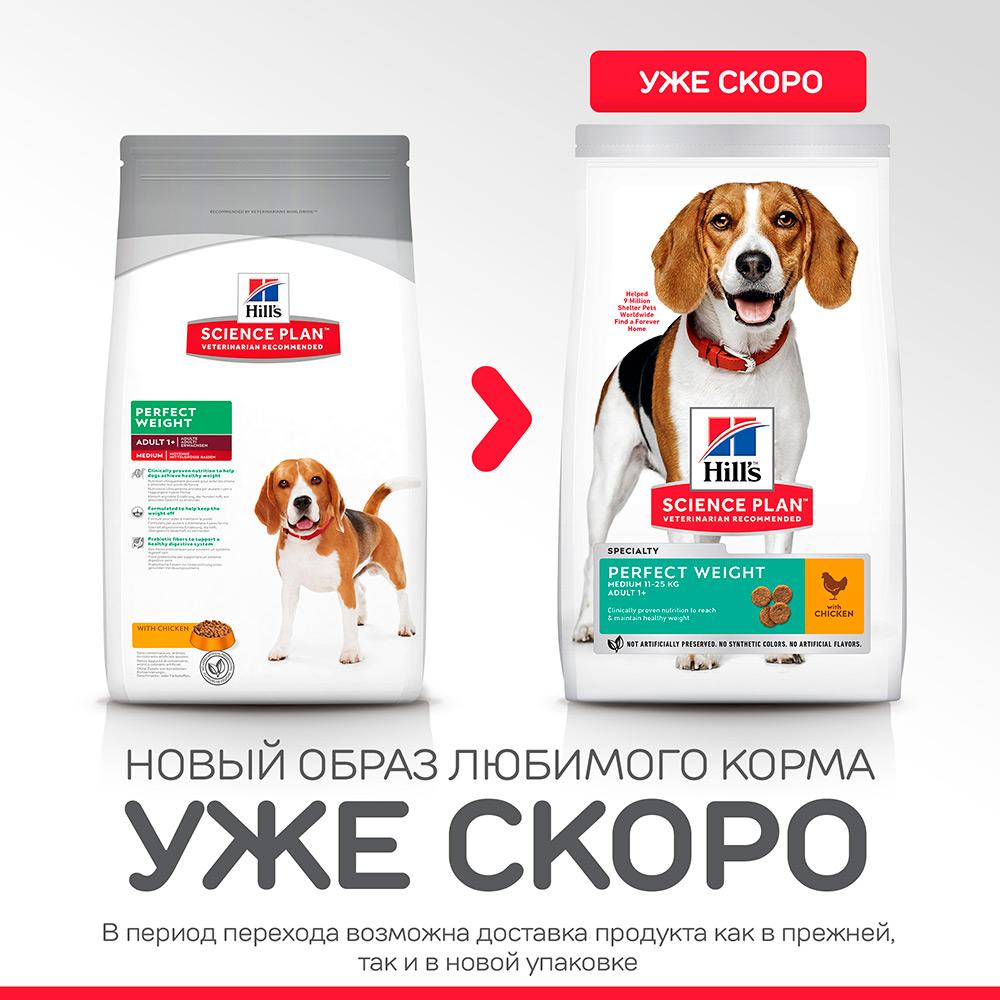 Корм Хиллс Идиальный вес для собак, низкокалорийный