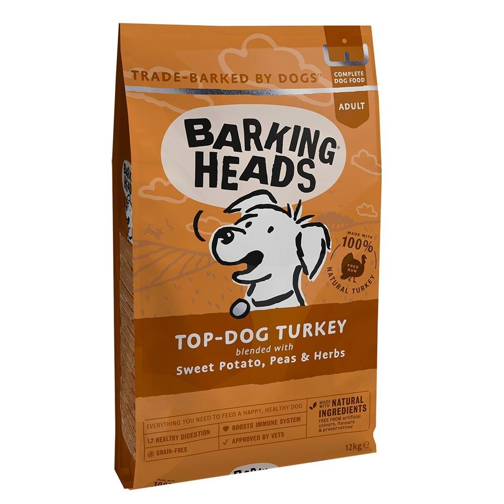 Корм Barking Heads беззерновой для собак, с индейкой и бататом