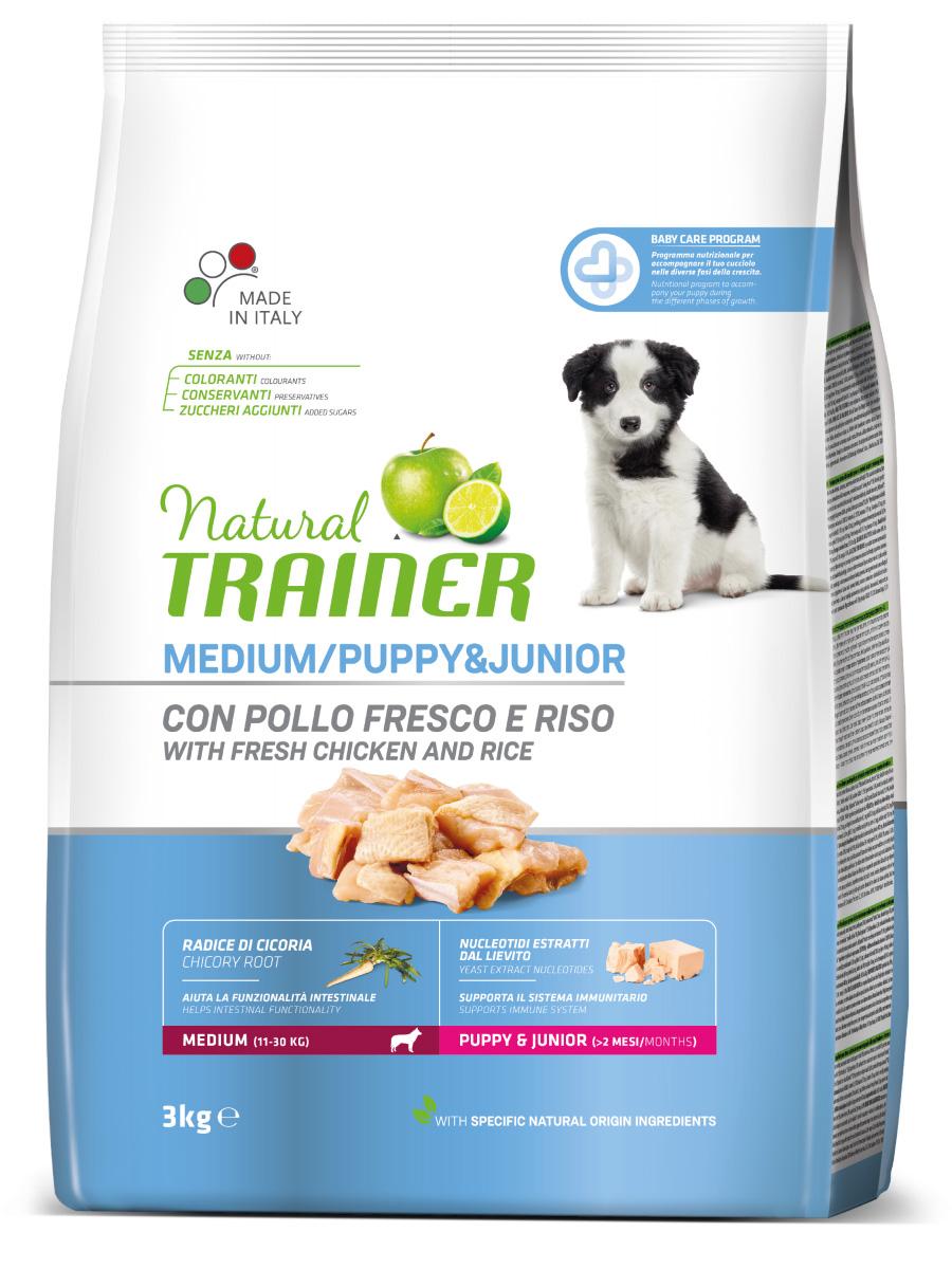 Сухой корм Трейнер для щенков средних пород с курицей (Trainer puppy and junior Medium)