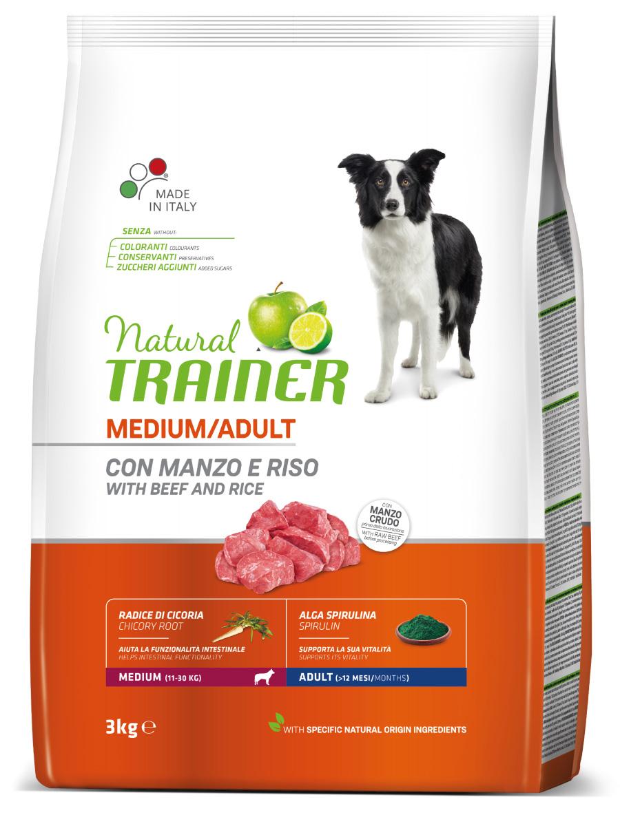 Сухой корм Трейнер для взрослых собак средних пород с говядиной (Trainer Adult Medium Beef)