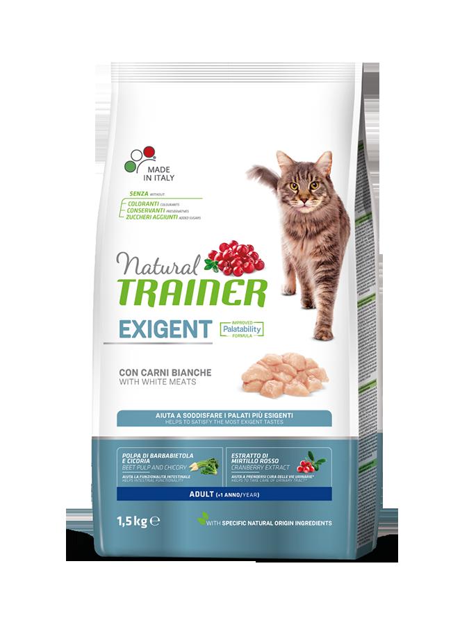 Сухой корм Трейнер для взрослых привередливых кошек с белым мясом (Trainer Exigent Adult Chiken)