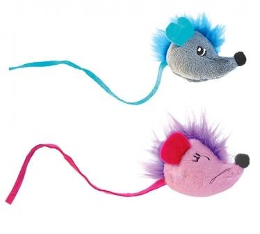 Игрушка Petstages для кошек Fuzzy Rat, мышки, 4,5 см (2шт)