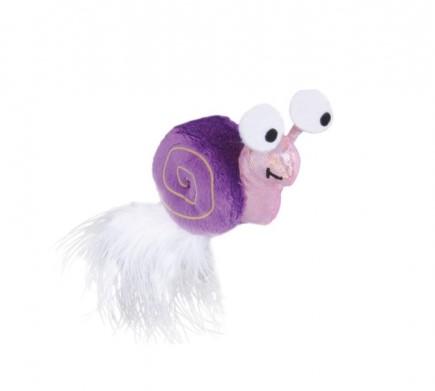 Игрушка Petstages для коше Glow Snail, с перьями, 6.5 см
