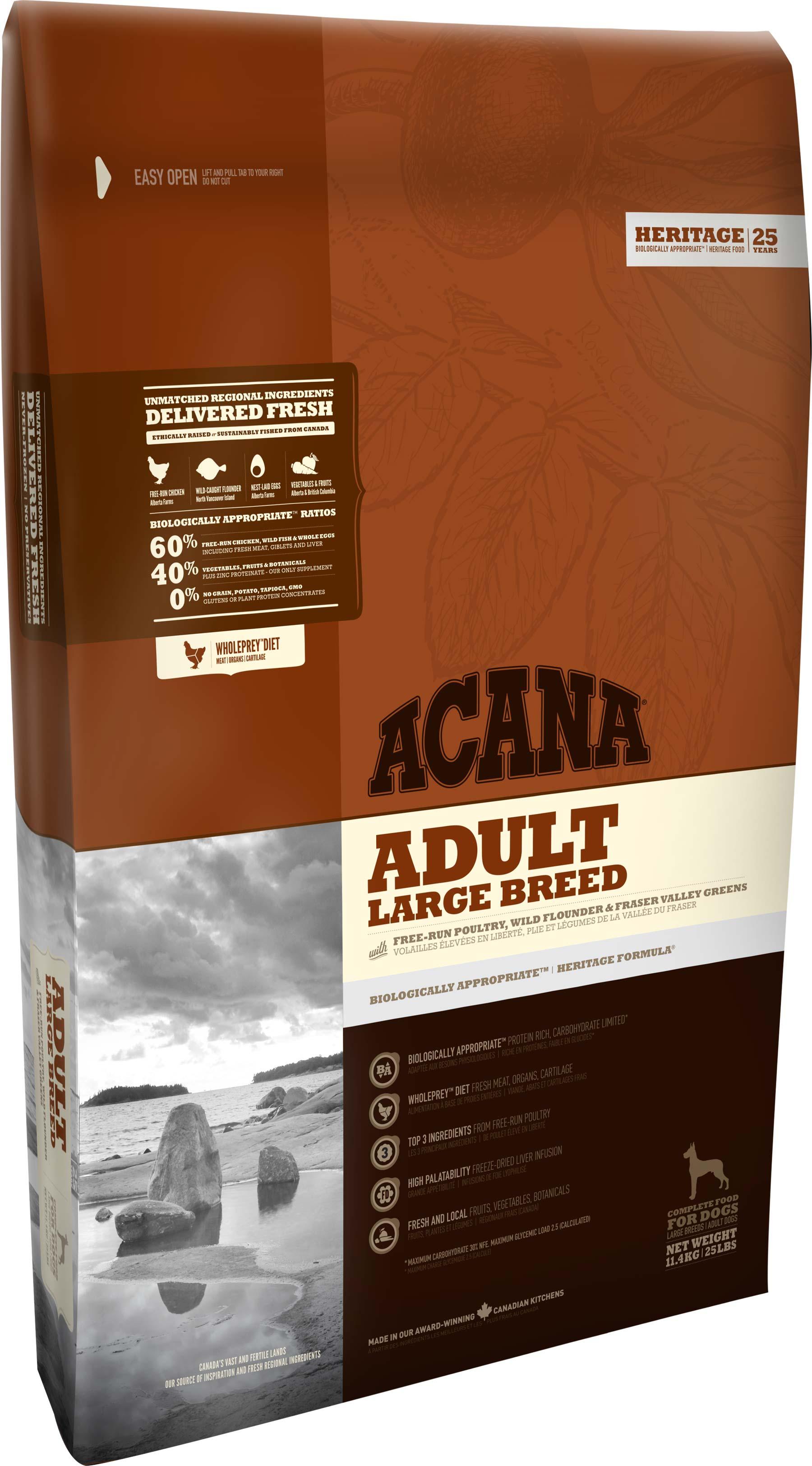 Корм для взрослых собак крупных пород Акана Эдалт Ладж Брид (ACANA ADULT LARGE BREED)