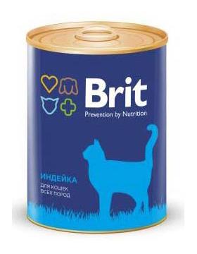 Консервы Брит Премиум для кошек Индейка (Brit Premium TURKEY), 6*340 г