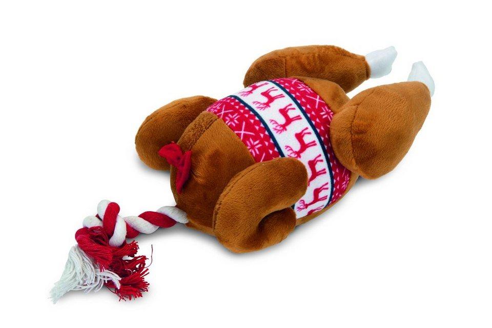 Игрушка плюшевая Рождественская индейка 30*18*13  см