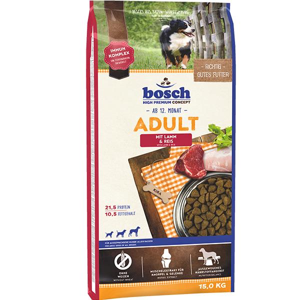 Корм для собак Бош Эдалт Ягненок с Рисом (Bosch Adult Lamm & Reis)