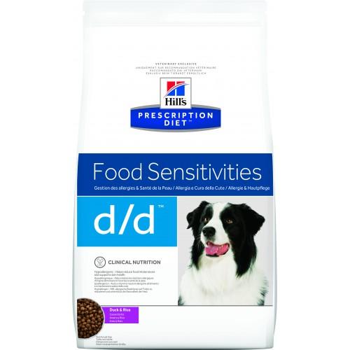Лечебный корм для собак Hills Canine d/d Duck&Rice, с уткой и рисом (пищевая аллергия и пищевая непереносимость, панкреатиты без гиперлипидемии)
