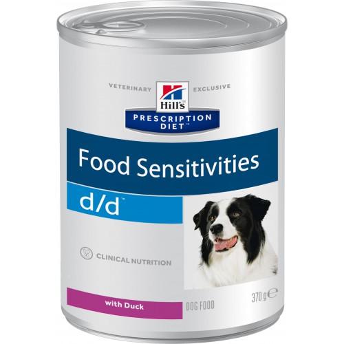 Влажный корм для собак при пищевой аллергии Hills PD d/d Canine Duck с уткой и рисом (6 шт*370 гр)