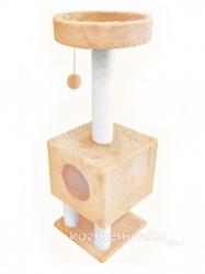 Домик на ножках Cat House с шариком на резинке (мех, хлопок), 1,05м Image 1