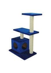 Домик когтеточка из сизаля с двумя полками УрбанКэт 96см, разные цвета обивки мехом Image 17