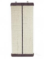 Угловая настенная когтеточка из сизаля УрбанКэт 11х56 см коричневый мех Image 1
