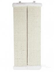 Угловая настенная когтеточка из сизаля УрбанКэт 11х56 см белый мех Image 1