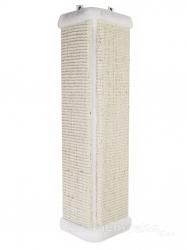 Угловая настенная когтеточка из сизаля УрбанКэт 11х56 см белый мех Image 0